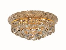 Elegant V1800F14G/RC - 1800 Primo Collection Flush Mount D:14in H:8in Lt:6 Gold Finish (Royal Cut Crystals)