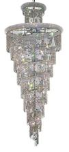 Elegant V1800SR36C/EC - 1800 Spiral Collection Chandelier D:36in H:86in Lt:32 Chrome Finish (Elegant Cut Crystals)