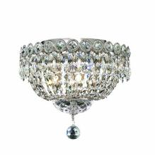 Elegant V1900F12C/EC - 1900 Century Collection Flush Mount D:12in H:10in Lt:4 Chrome Finish (Elegant Cut Crystals)