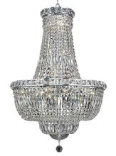 Elegant V2528D22C/RC - 2528 Tranquil Collection Chandelier D:22in H:31in Lt:22 Chrome Finish (Royal Cut Crystals)