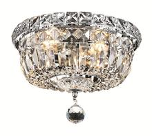 Elegant V2528F10C/EC - 2528 Tranquil Collection Flush Mount D:10in H:8in Lt:4 Chrome Finish (Elegant Cut Crystals)
