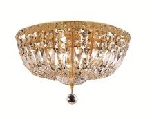Elegant V2528F16G/EC - 2528 Tranquil Collection Flush Mount D:16in H:10in Lt:6 Gold Finish (Elegant Cut Crystals)