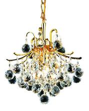 Elegant V8000D12G/EC - 8000 Toureg Collection Pendant D:12in H:12in Lt:3 Gold Finish (Elegant Cut Crystals)