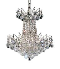 Elegant V8031D16C/SA - 8031 Victoria Collection Pendant D:16in H:16in Lt:4 Chrome Finish (Spectra� Swarovski� Crystals)