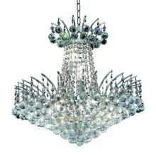 Elegant V8031D19C/RC - 8031 Victoria Collection Pendant D:19in H:19in Lt:8 Chrome Finish (Royal Cut Crystals)