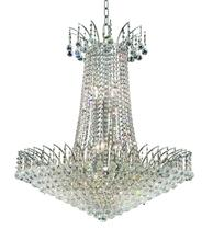 Elegant V8031D29C/RC - 8031 Victoria Collection Chandelier D:29in H:32in Lt:16 Chrome Finish (Royal Cut Crystals)