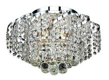 Elegant VECA1F16C/EC - Belenus Collection Flush Mount D:16in H:10in Lt:6 Chrome Finish (Elegant Cut Crystals)