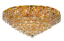 Elegant VECA1F26G/SA - Belenus Collection Flush Mount D:26in H:13in Lt:10 Gold Finish (Spectra� Swarovski� Crystals)
