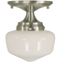 Framburg 2931 BN - 1-Light Brushed Nickel Taylor Flush / Semi-Flush Mount