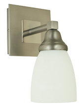 Framburg 4781 SP/PN - 1-Light Satin Pewter/Polished Nickel Mercer Sconce