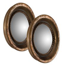 Uttermost 12847 - Uttermost Tropea Rounds Wood Mirror S/2