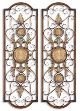 Uttermost 13475 - Uttermost Micayla Antique Metal Panels, Set/2