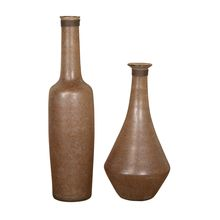 Uttermost 18851 - Uttermost Chandi Smoke Glass & Rust Wash Vases Set/2