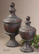 Uttermost 19267 - Uttermost Gracelyn Antique Finials, Set/2
