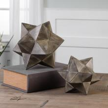 Uttermost 20109 - Uttermost Geometric Stars Concrete Sculpture Set/2