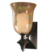 Uttermost 22467 - Uttermost Elba 1 Light Crackled Glass Wall Sconce