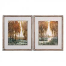 Uttermost 41572 - Uttermost Custom Golden Forest Landscape Prints S/2