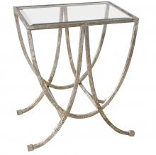 Uttermost 24592 - Uttermost Marta Antiqued Silver Side Table