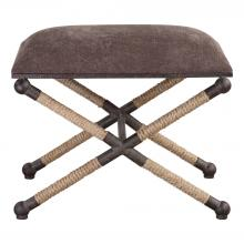 Uttermost 23398 - Uttermost Evert Taupe Brown Accent Stool