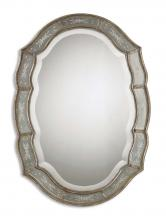 Uttermost 12530 B - Uttermost Fifi Etched Antique Gold Mirror