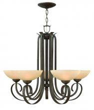 Hinkley 3765FI - Five Light Forged Iron Up Chandelier