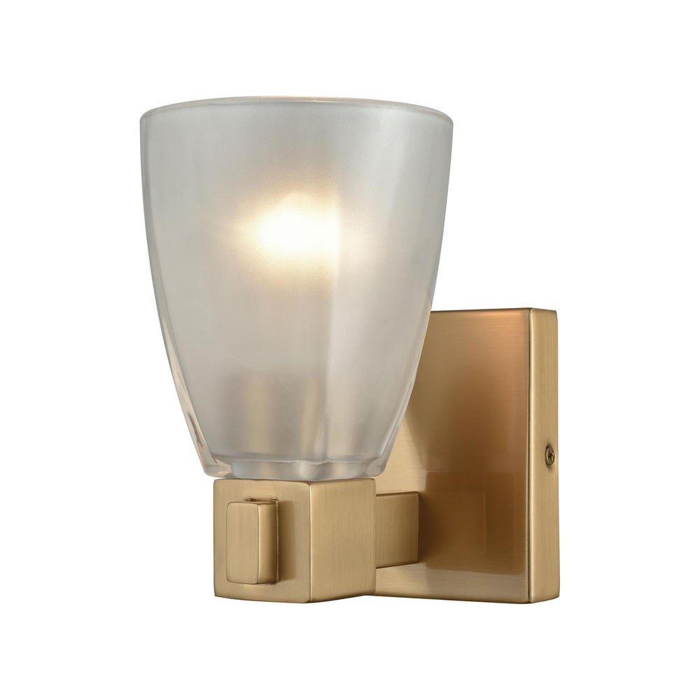 Lighting Solutions in Ringoes, New Jersey, United States,  11990/1, Ensley 1 Light Vanity In Satin Brass With Froste, Ensley