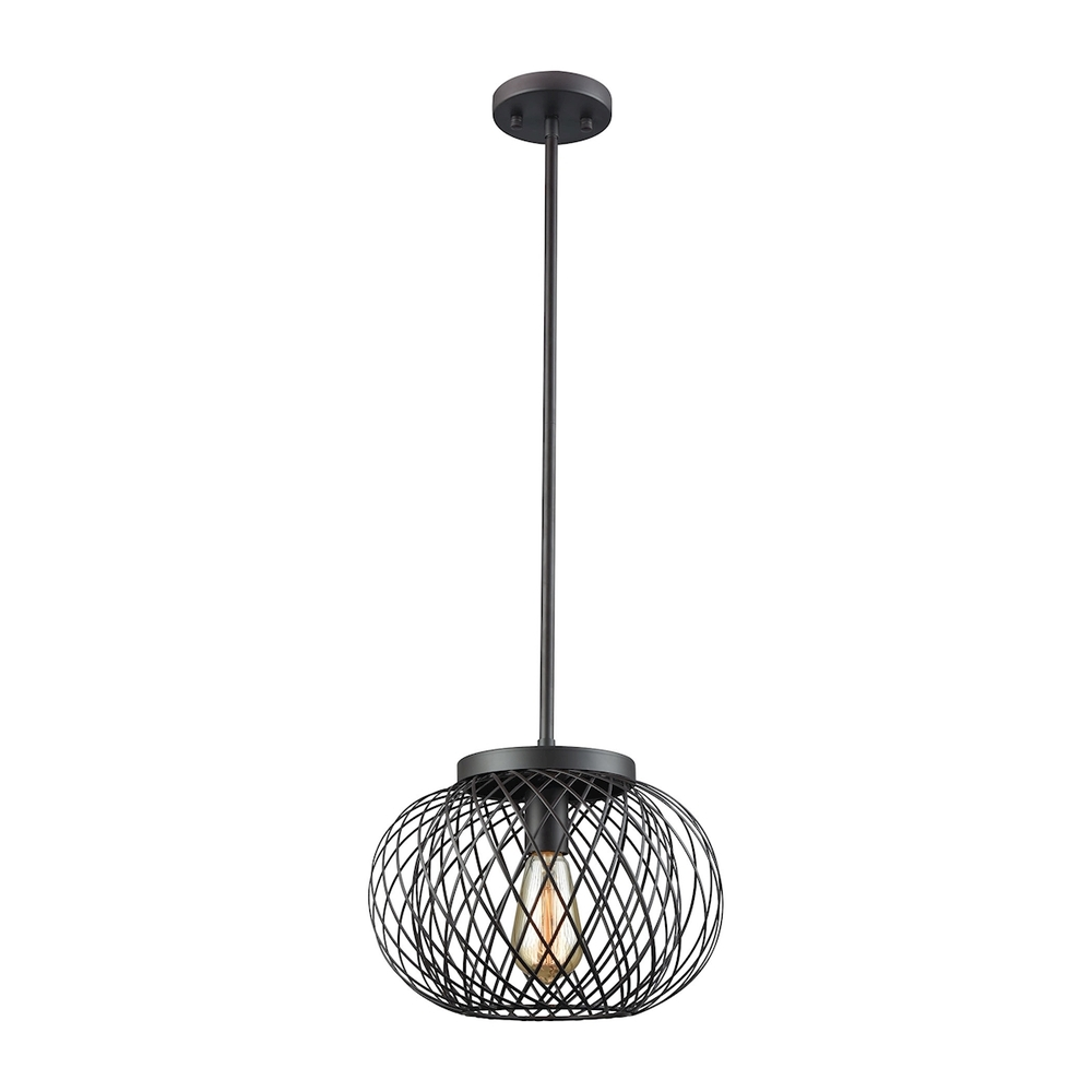 Lighting Solutions in Ringoes, New Jersey, United States,  14255/1, Yardley 1 Light Pendant In Oil Rubbed Bronze, Yardley