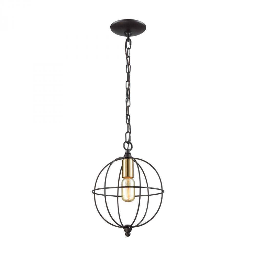 Loftin 1 Light Pendant In Oil Rubbed Bronze With