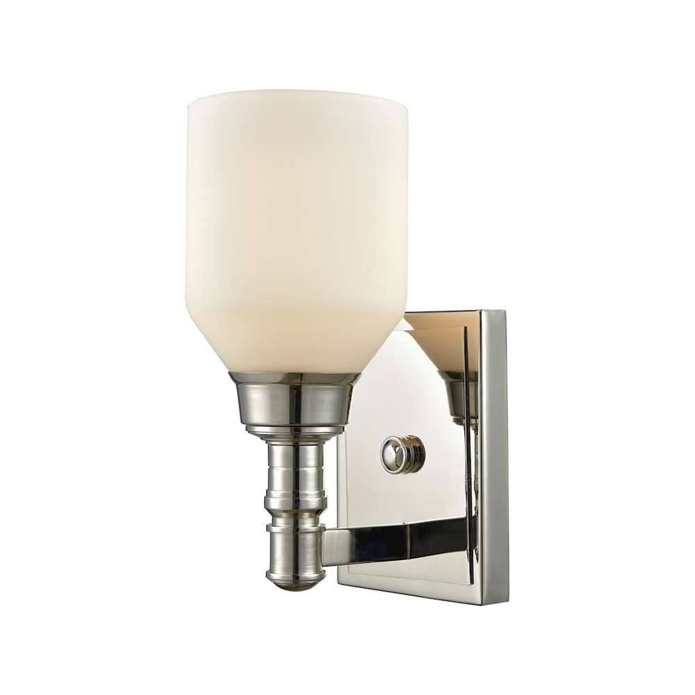 Lighting Solutions in Ringoes, New Jersey, United States,  32270/1, Baxter 1 Light Vanity In Polished Nickel With Op, Baxter