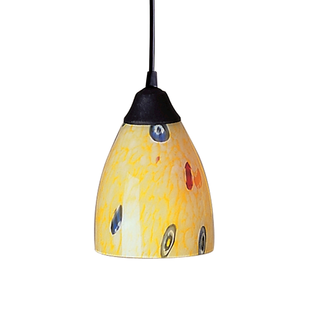 Lighting Solutions in Ringoes, New Jersey, United States,  406-1YW, Classico 1 Light Pendant In Dark Rust And Yellow, Classico