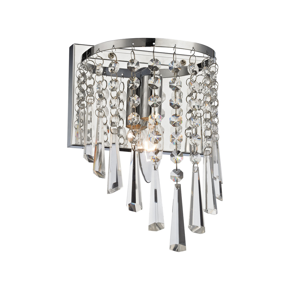Jariah 1 Light Vanity In Polished Chrome