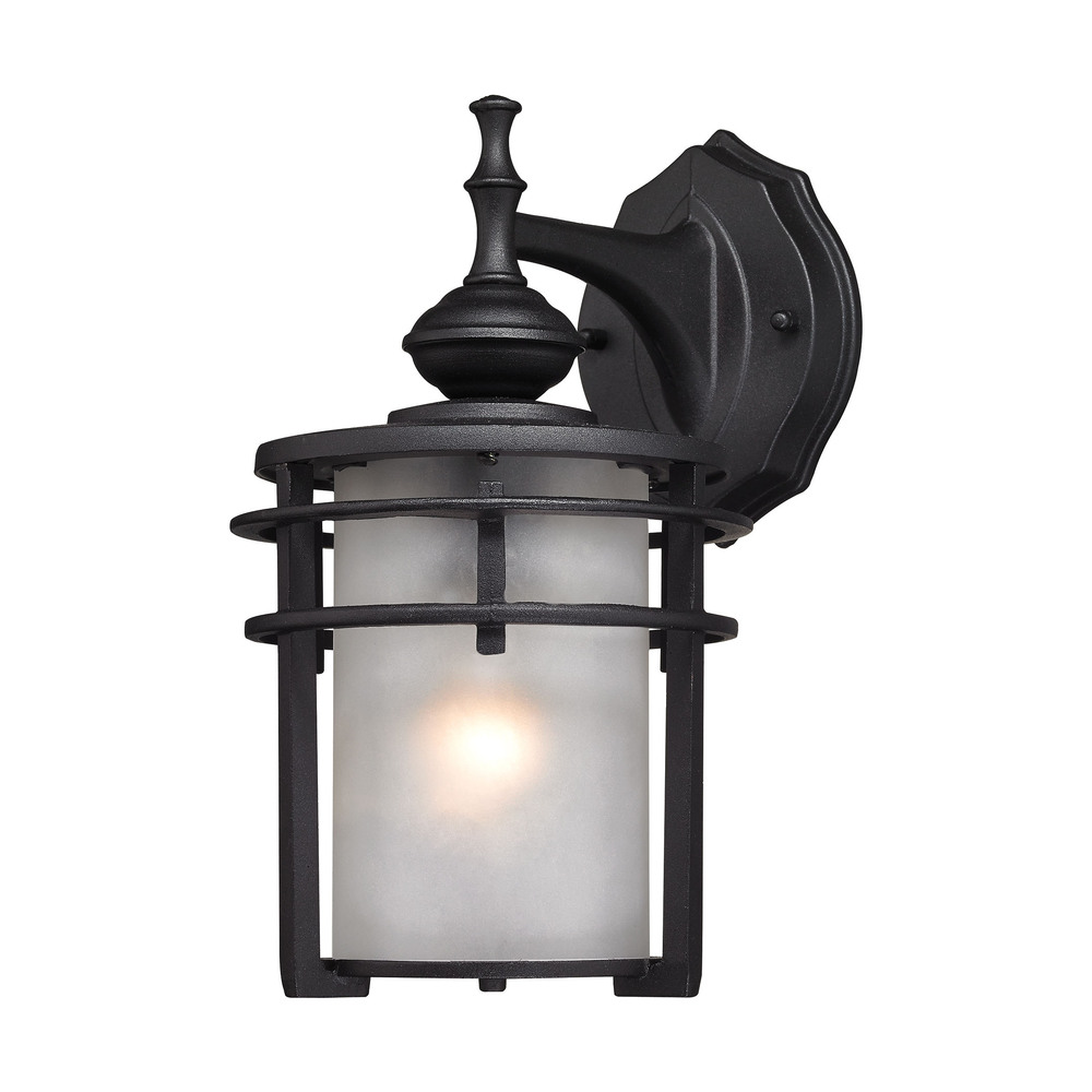 Lighting Solutions in Ringoes, New Jersey, United States,  46250/1, Meadowview 1 Light Outdoor Sconce In Matte Black, Meadowview