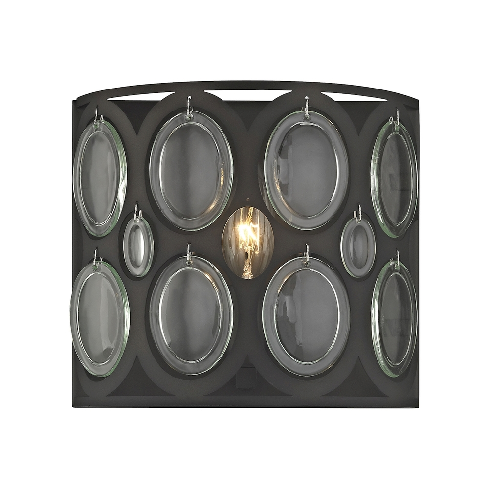 Lighting Solutions in Ringoes, New Jersey, United States,  81120/1, Serai 1 Light Vanity In Oil Rubbed Bronze With C, Serai