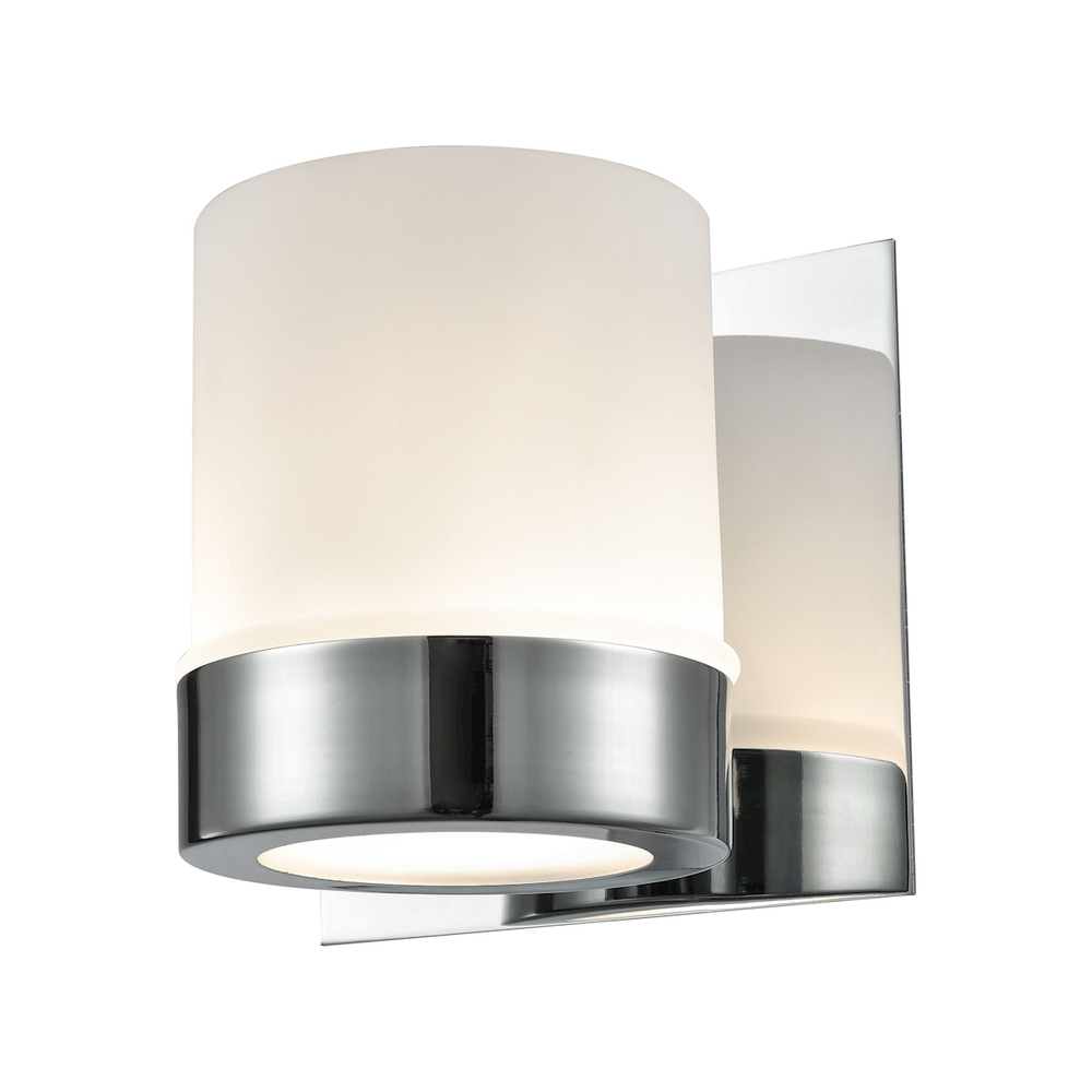 Lighting Solutions in Ringoes, New Jersey, United States,  BV2121-10-15, Mulholland 1 Light Vanity In Chrome And Opal Gla, Mulholland