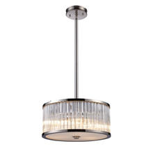 ELK Lighting 10128/3 - Braxton 3 Light Pendant In Polished Nickel And R