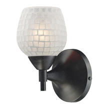 ELK Lighting 10150/1DR-WHT - Celina 1 Light Sconce In Dark Rust And White