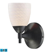 ELK Lighting 10150/1DR-WS-LED - Celina 1 Light Sconce In Dark Rust And White Swi
