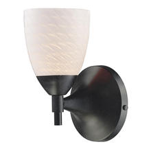 ELK Lighting 10150/1DR-WS - Celina 1 Light Sconce In Dark Rust And White Swi