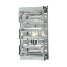 ELK Lighting 11515/1 - Corrugated Glass 1 Light Vanity In Polished Chro