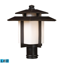 ELK Lighting 42173/1-LED - Kanso 1 Light Outdoor LED Pier Mount In Hazlenut