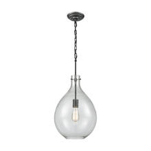 ELK Lighting 56640/1 - Sunderland 1-Light Mini Pendant in Silvered Graphite with Clear Blown Glass