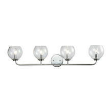 ELK Lighting 81363/4 - Emory 4-Light Vanity Lamp in Polished Chrome with Clear Blown Glass